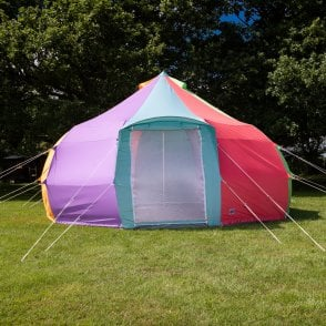 4m Luna Bell Tent | Dome Yurt Style | Canvas Rainbow Colour