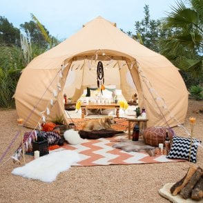 4m Luna Bell Tent | Dome Yurt Style | Canvas Sandstone Cream